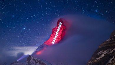 Photo of جبال الألب تضيئ أملًا وتضامنًا مع العالم في مواجهة كورونا
