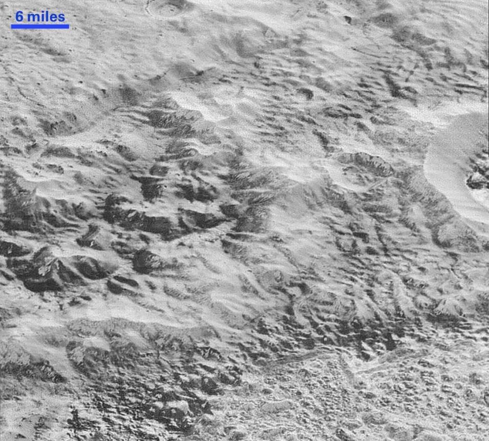 تضاريس لحفر و جبال و أنهار جليدية