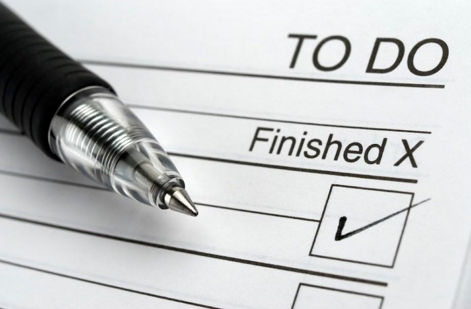 أكتب قائمة الأعمال