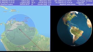 بث مباشر لسقوط الصاروخ الصيني على الأرض !