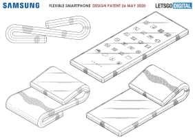 تصميم هاتف ذكي قابل للطي من جانبين - ابتكارات الهاتف المحمول المستقبلية