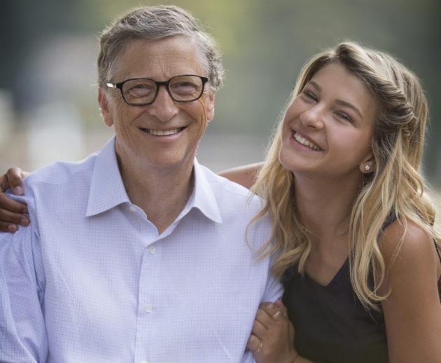 فيبي أديل جيتس مع والدها