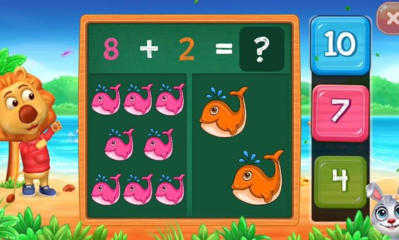 العاب تعليمية للاطفال- لعبة تعليم الحساب والجمع والطرح للاطفال Math Kids