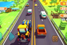 لعبة سباق سيارات الطريق السريع مجاناً- Blocky Highway