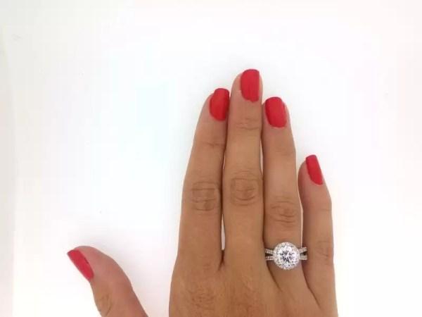 3 Carat Round Cut Diamond Engagement Ring 14K White Gold 2