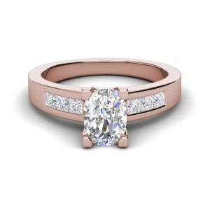 Channel Set 3.45 Carat VS2 Clarity D Color Oval Cut Diamond Engagement Ring Rose Gold 3