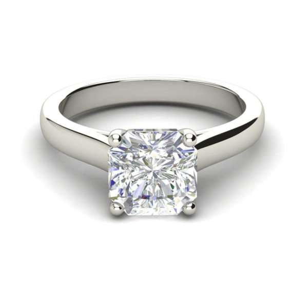 Solitaire 2.25 Carat VS1 Clarity H Color Cushion Cut Diamond Engagement Ring White Gold 3