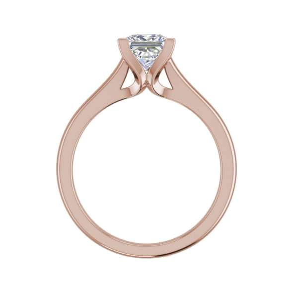 Solitaire 2.25 Carat VS2 Clarity F Color Princess Cut Diamond Engagement Ring Rose Gold 2