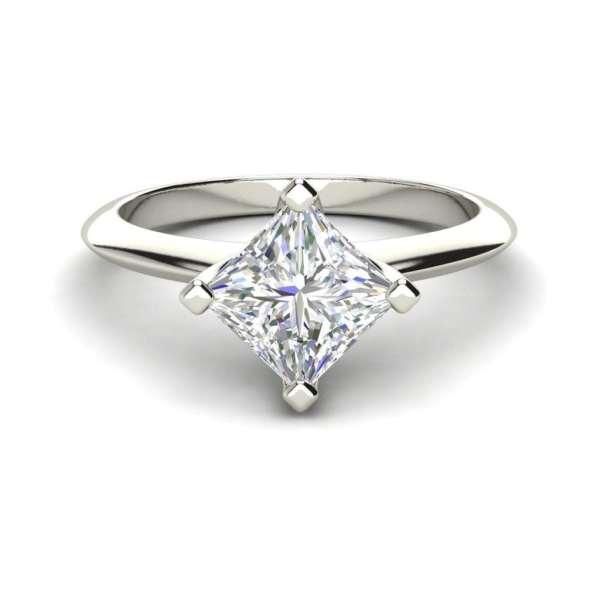 4 Prong 2 Carat VS2 Clarity H Color Princess Cut Diamond Engagement Ring White Gold 3
