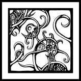 Organic Right Panel Doodle Art
