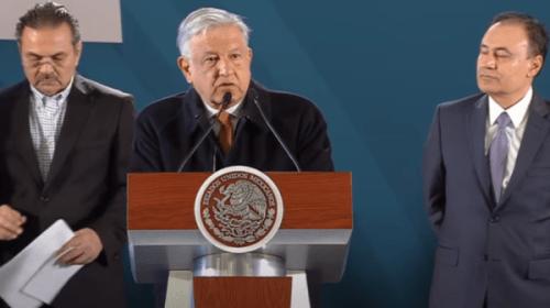 Andrés Manuel López Obrador y funcionarios