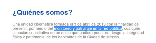Actividad de la Policía Cibernética de Ciudad de México