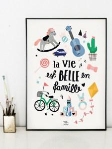 affiche_la_vie_est_belle_en_famille_par_michelle_carlslund_edition_limit_e_1_