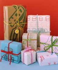 Ecological Christmas wrapping