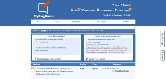 Guest blogging: Looking for guest bloggers or guest post? MyBlogGuest