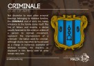 The CRIMINALE coat of arms