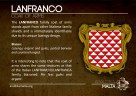 The LANFRANCO coat of arms