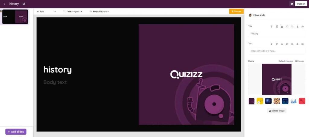 Review of Quizizz Educational App 2