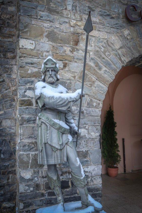 Statue at Peleș Castle