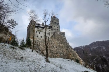 The exterior of Bran Castle.