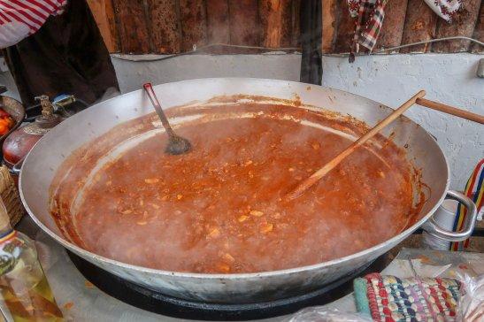 Big vat o' goulash.
