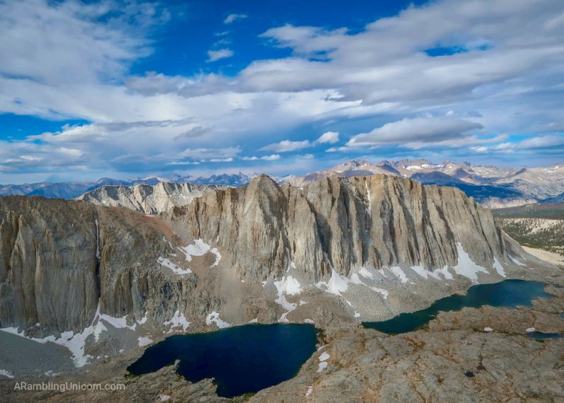 The view from Mount Whitney - the highest point in the contiguous United States.