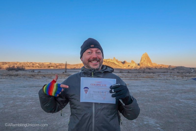 They gave us certificates for completing the Cappadocia balloon ride which we promptly threw away since we don't have room for them in our bags.