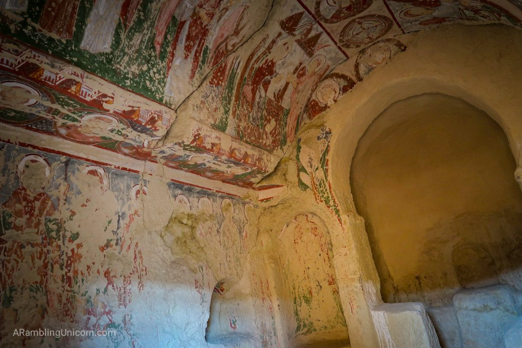 Cappadocia Itinerary Day 1: Frescoes on cave dwellings near Göreme