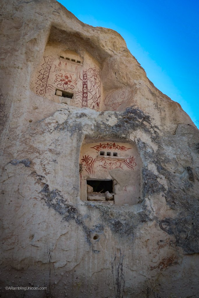 Paintings on ancient dwellings.
