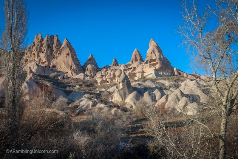 Fairy chimneys as viewed from the Pigeon Valley Trail.