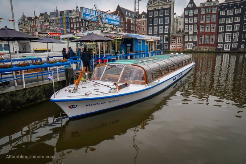 Amsterdam blog: Our boat for the Amsterdam canal cruise.