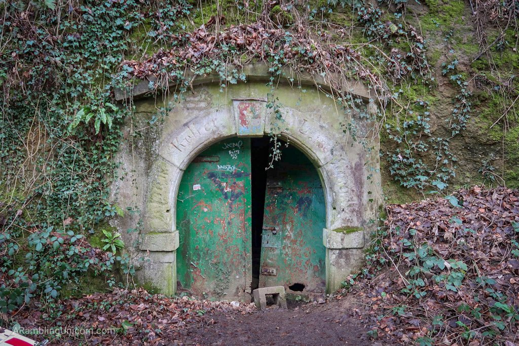Entrance to an abandoned cave