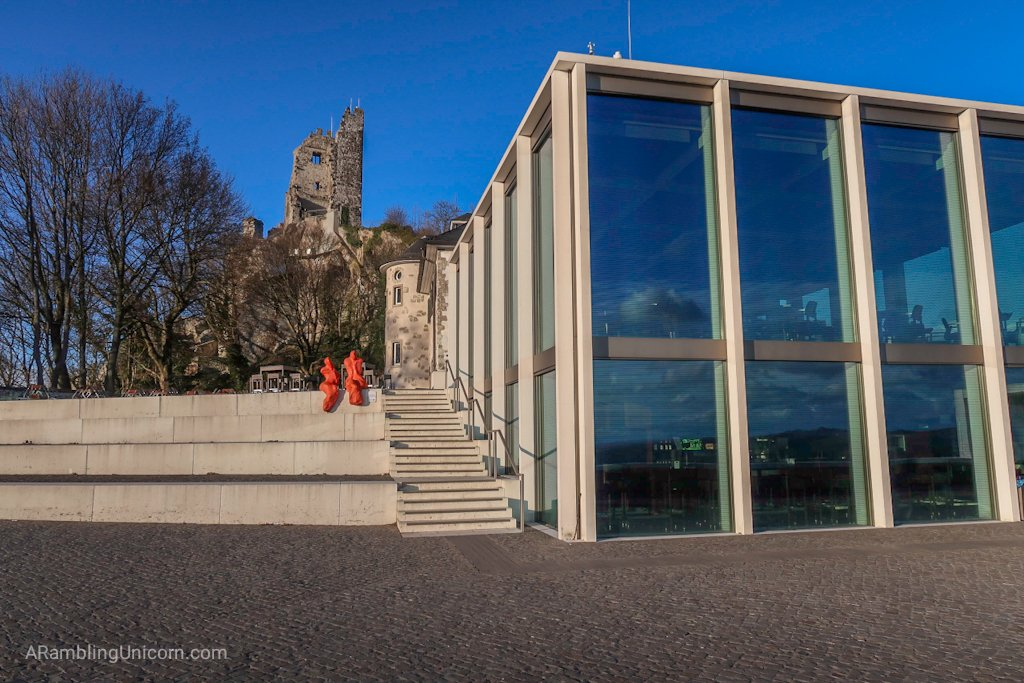 The Drachenfels Visitor Center. A great place for a Cologne day trip.