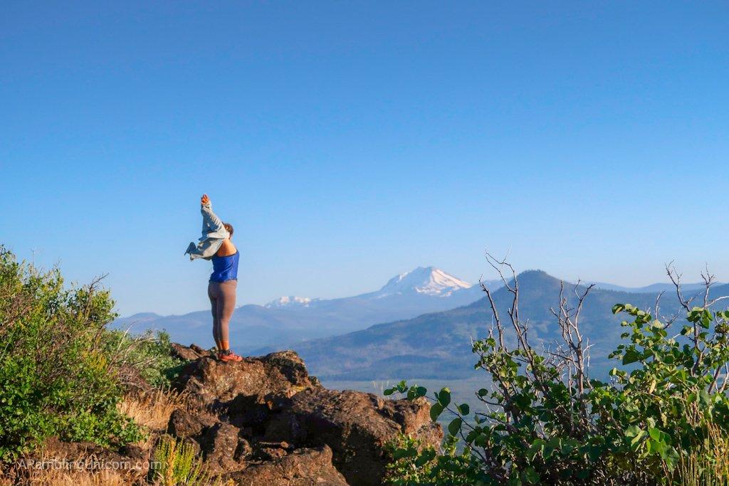 Unicorn's Pacific Crest Trail Blog: Monarch regards Mt. Lassen.