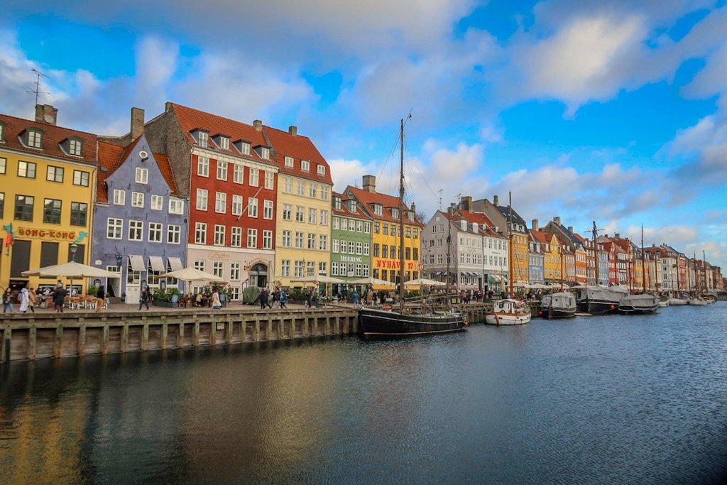 The Nyhaven neighborhood in Copenhagen