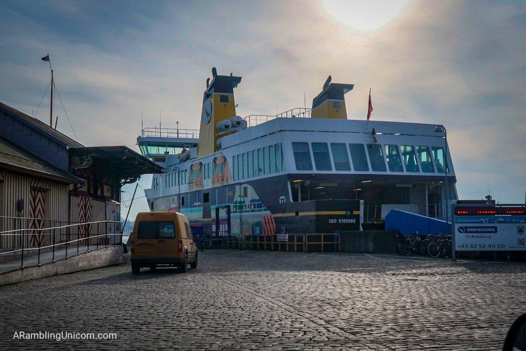 Boarding the Ferry to Ærø Island