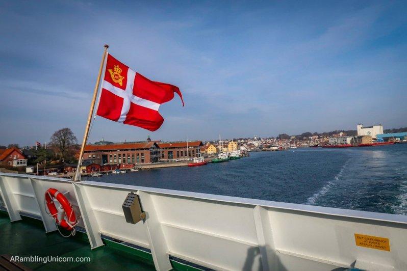 Bidding goodbye to the Danish mainland
