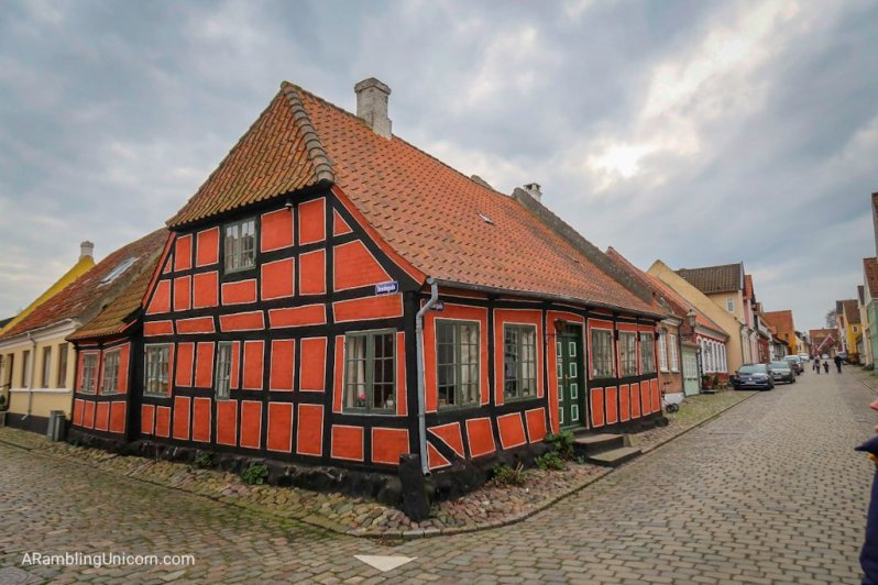 The colorful houses on Island of Ærø are charming (and very old)