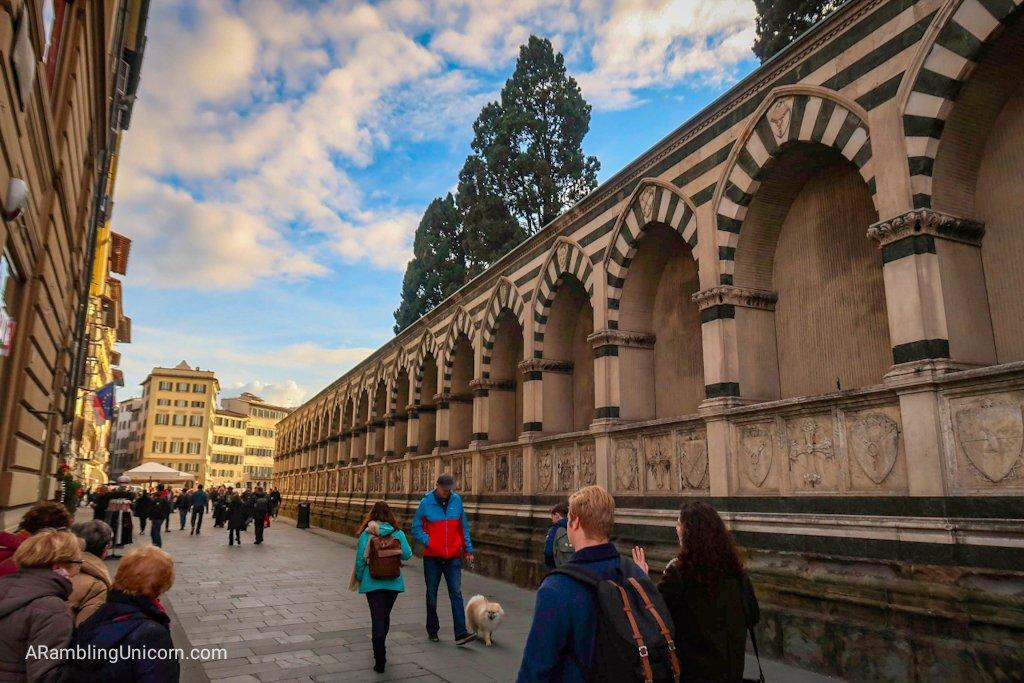 Pathway along the Basilica of Santa Maria Novella