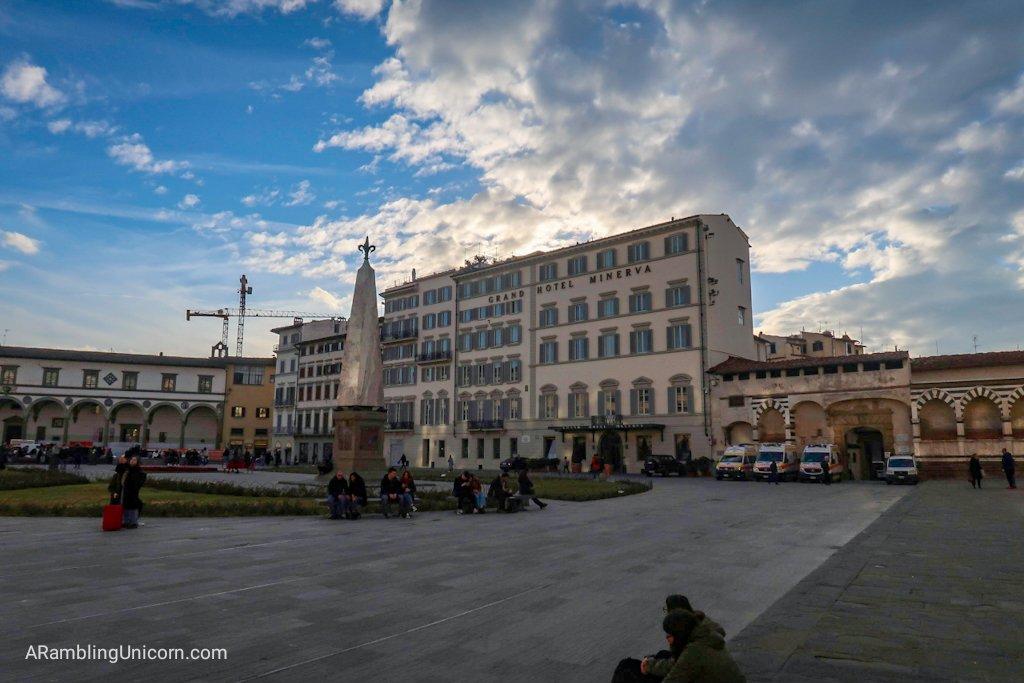 Florence 4 day itinerary: Grand Hotel Minerva in the Piazza di Santa Maria Novella