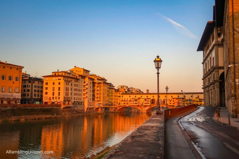 Florence 4 day itinerary: Ponte Vecchio bridge in Floren