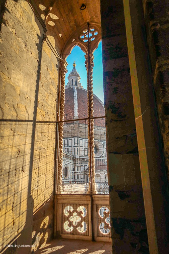 Giotto's Campanile is comprised of five stages, each with 360-degree views around the city