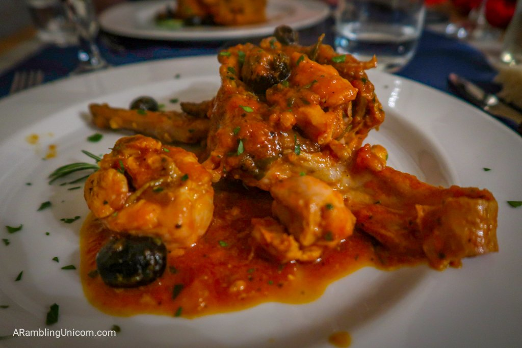 This rabbit cacciatore is one of the best thing's that I've eaten in my life. We had it twice.