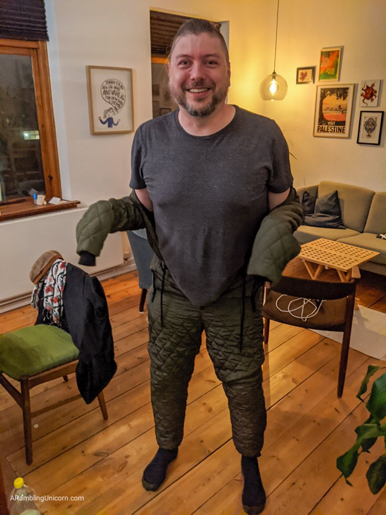 Odense blog: Daniel gets talked into trying on Tetris' winter snowsuit