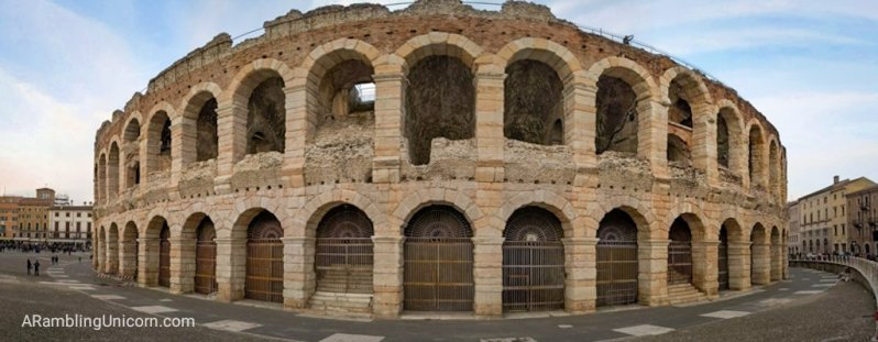 Verona in 24 Hours: The Verona Arena panoramic