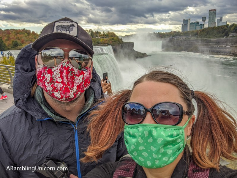 Selfie from Prospect Point: a must-do when spending one day in Niagara Falls