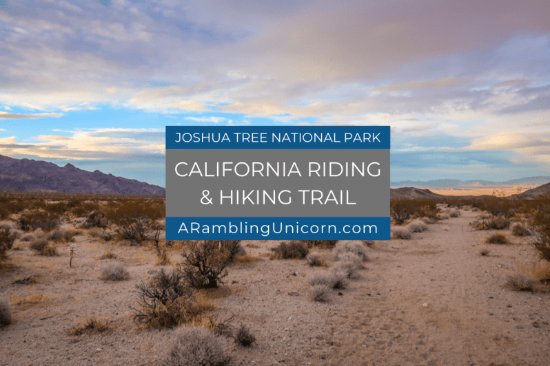 California Riding and Hiking Trail near the Northern Entrance at the golden hour