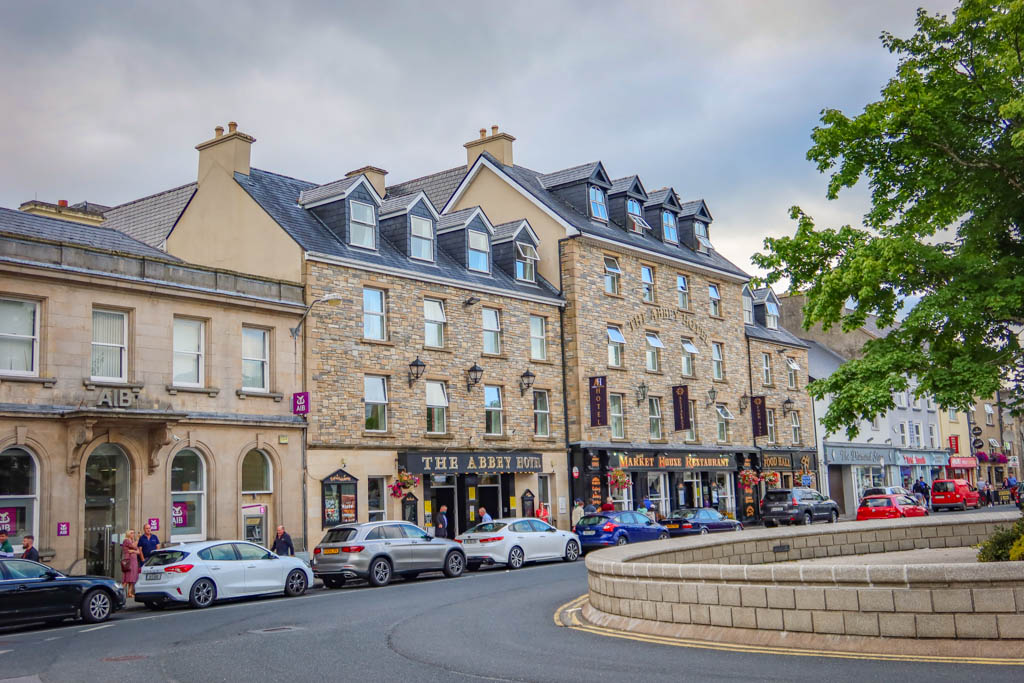 The Abbey Hotel in the Donegal Town square