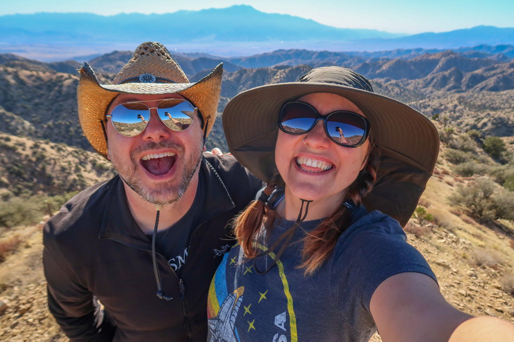 Selfie with Daniel on Eureka Peak, which is near the California Riding and Hiking Trail