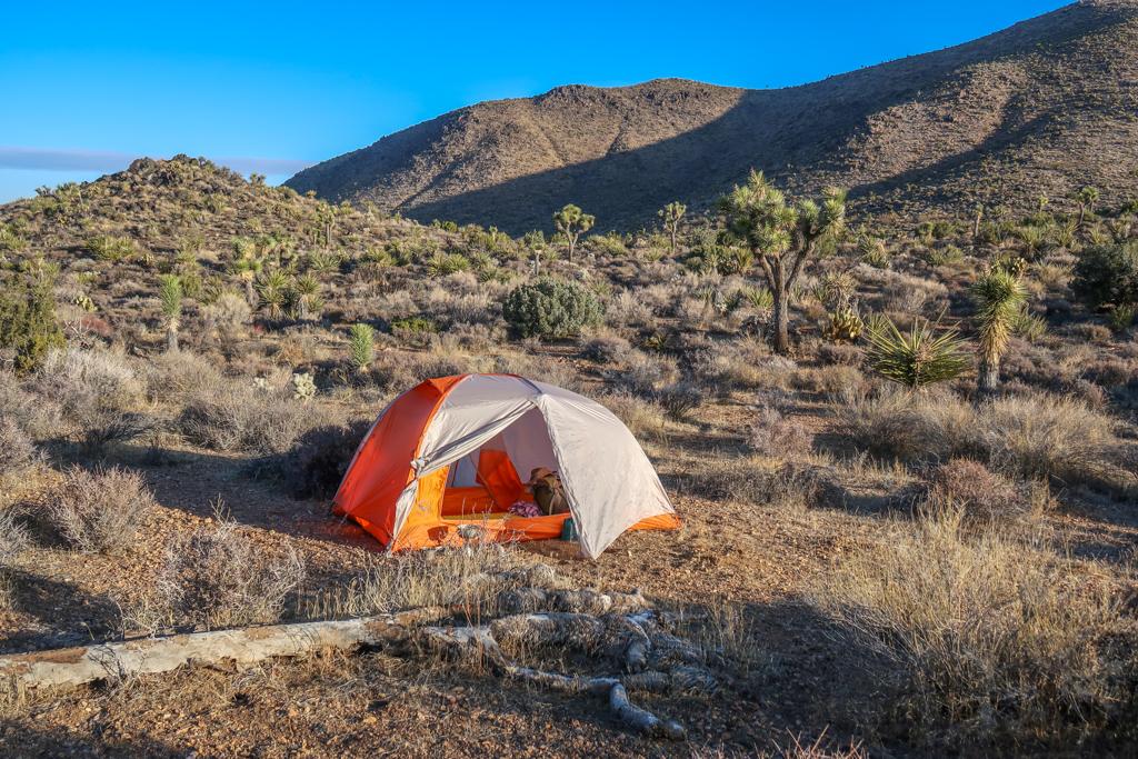 Tent campsite between Juniper Flats and Twin Tanks